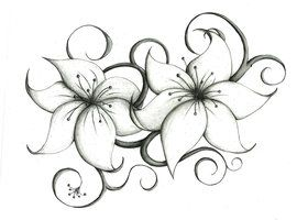 lily flower tattoo drawing google search