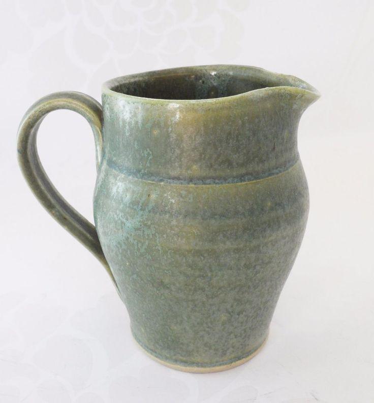 Wetheriggs Hans Ullrich Green Stoneware Jug Vintage Cumbrian Studio Pottery