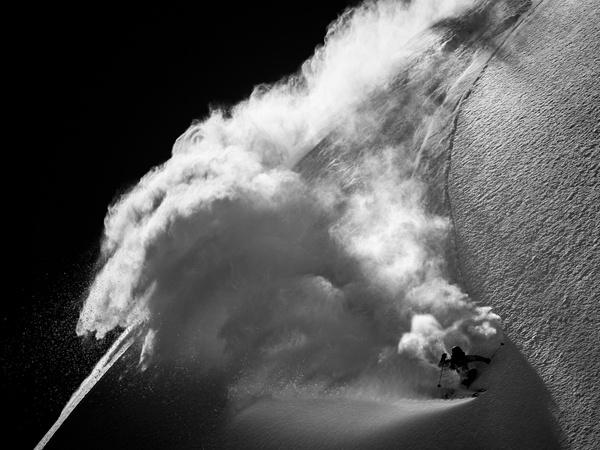 Backcountry Skiing in Arolla, Switzerland (Photograph by Jérémy Bernard).