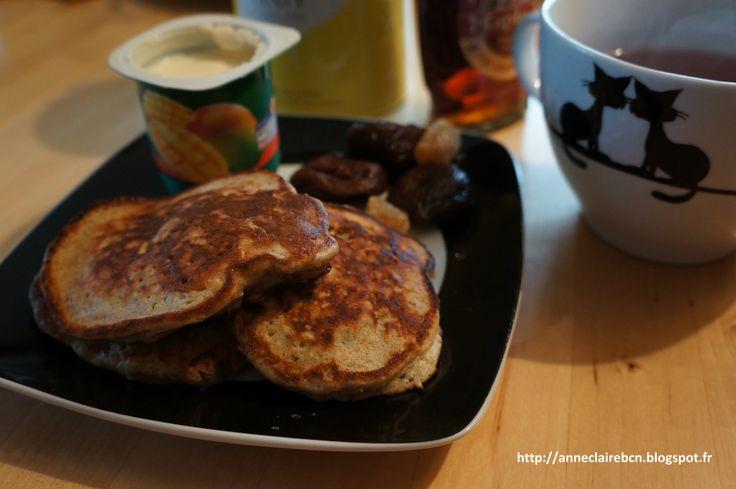 Sunday breakfast - Pancakes bananes flocons d'avoines