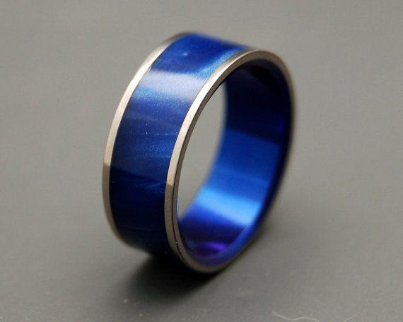 trouwringen titanium ringen houten ringen door MinterandRichterDes