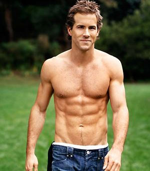 Ryan Reynolds, nuff said.