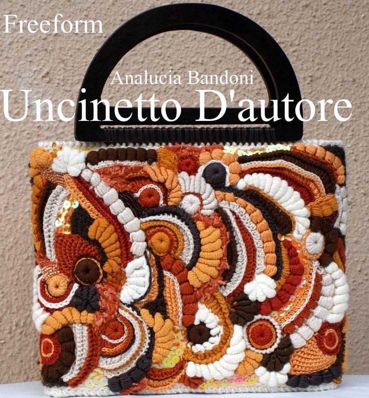 #freeform #crochet #uncinetto #bag #borsa