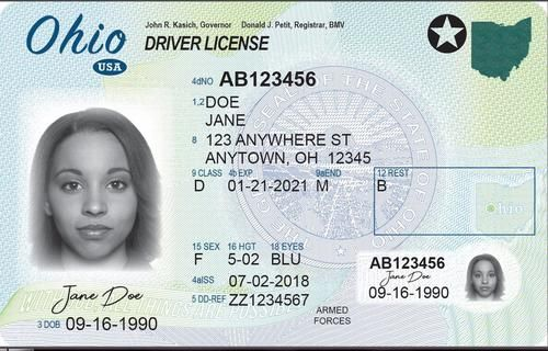 Ohio Driver S License Enhanced Novelty Drivers License Real Id Driver S License