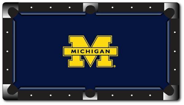 Ncaa Michigan Custom Pool Table Felt U Of M Custom