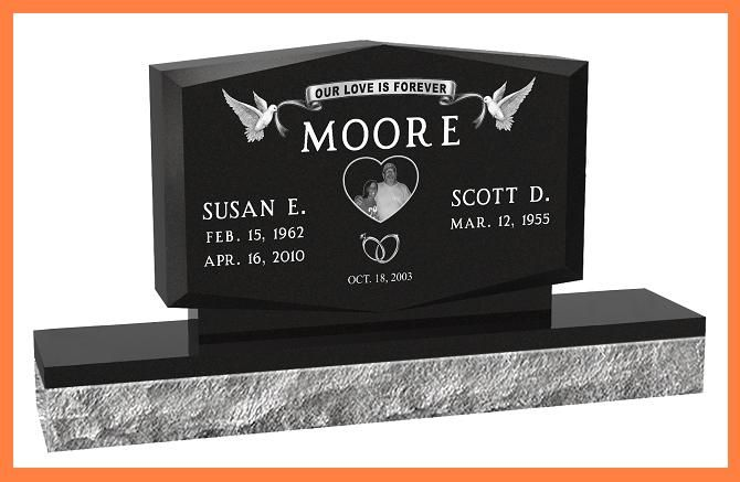 Double Headstones for Graves   Details about Cemetery Grave Headstones Designer Granite Monument