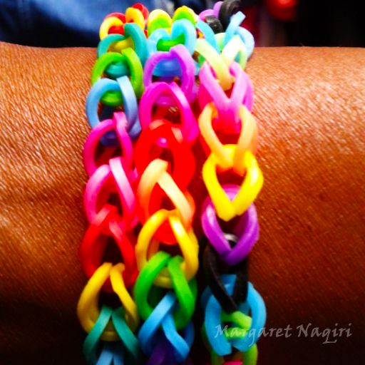 #homemade #loombands #rainbow #colours