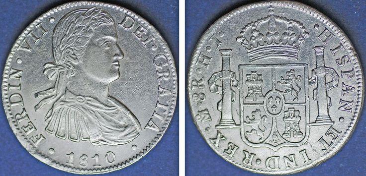 8 SILVER REALES/PLATA. FERDINAND VII/FERNANDO VII. MÉXICO. 1810 HJ. XF-/EBC-.