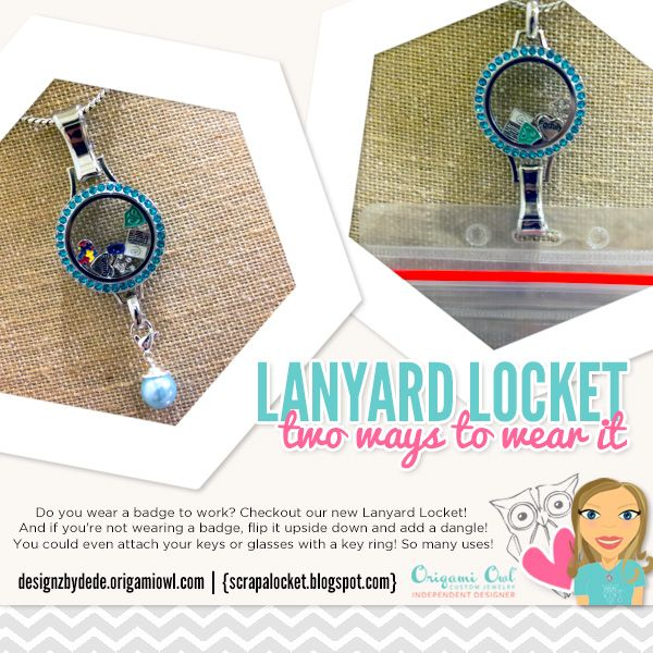Origami Owl's New Lanyard Locket is great for more than badges! You can wear it…  https://locketsofun.origamiowl.com/shop/party/298818