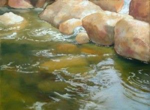 painting waterPainting Water, Art Watercolors, Pastel Painting Techniques, Painting Rocks, Watercolors Painting Tips, Painting Inspiration, Painting Art, Landscapes Painting, Oil Painting