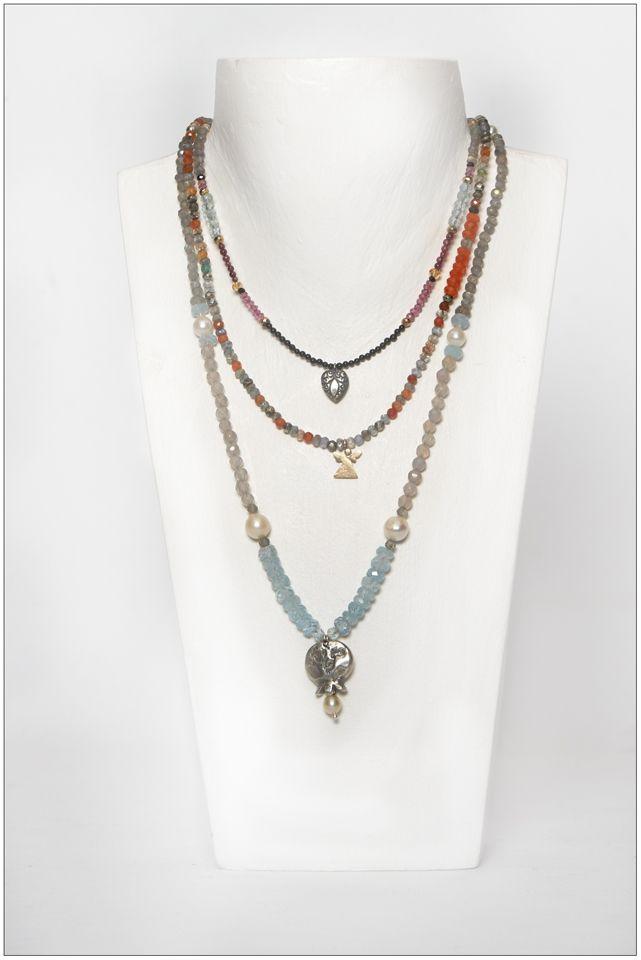 Necklaces with quality semi-precious stones