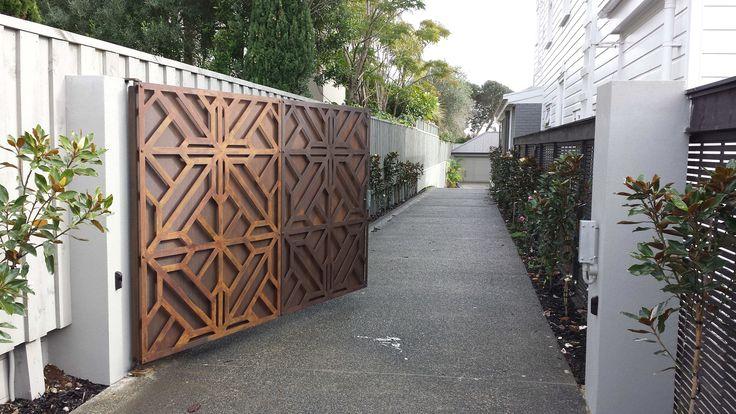 """""""Rusticated Iron"""" Single Swing Gate - Driveway Gates"""