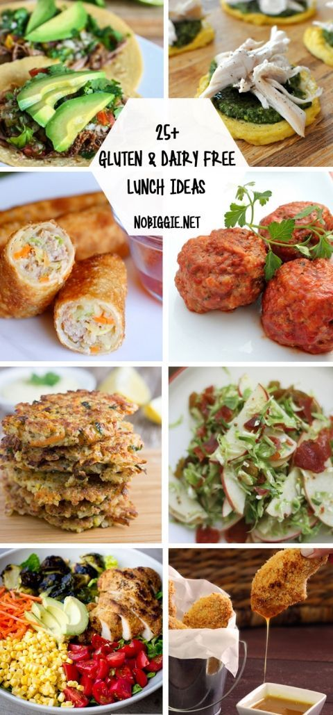 25+ Gluten Free and Dairy Free Lunch Ideas