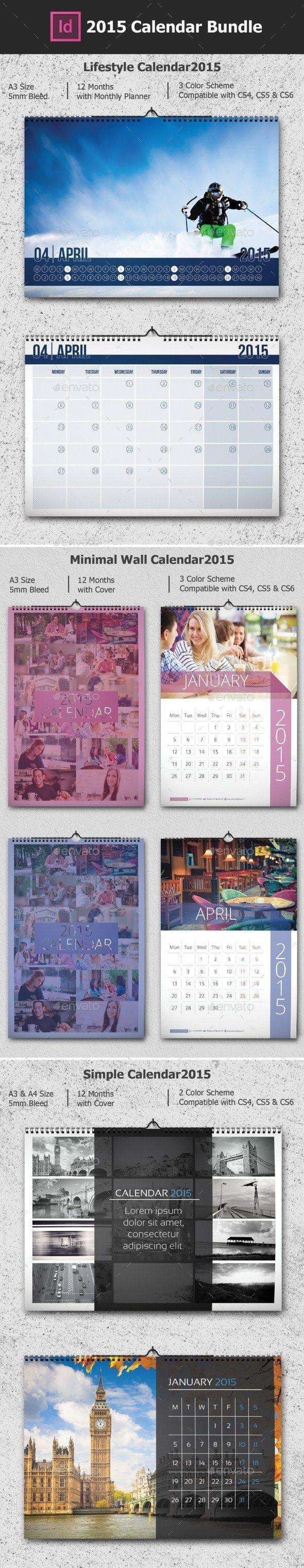 2015 Calendar Bundle Template | Buy and Download: http://graphicriver.net/item/2015-calendar-bundle/9678425?ref=ksioks