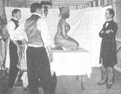 """J. Marion Sims is called """"the Father of Gynecology"""" due to his experiments on enslaved women in Alabama who were often submitted as guinea pigs by their plantation owners who could not use them for sexual pleasure. In Montgomery, Alabama, Sims experimented on three Alabamian women who were held captive as slaves – Anarcha, Betsy, and Lucy – From 1845 to 1849 he experimented on them, operating on Anarcha 30 times"""