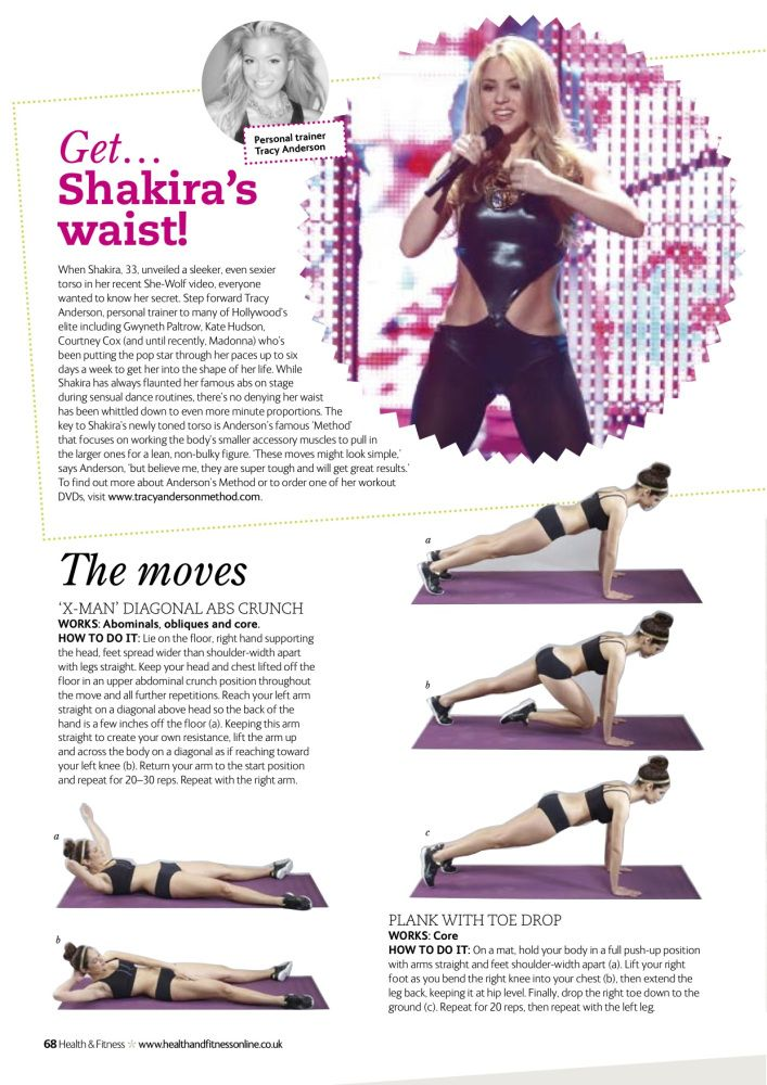 Tracy Anderson Health and Fitness Get Shakira's Waist!