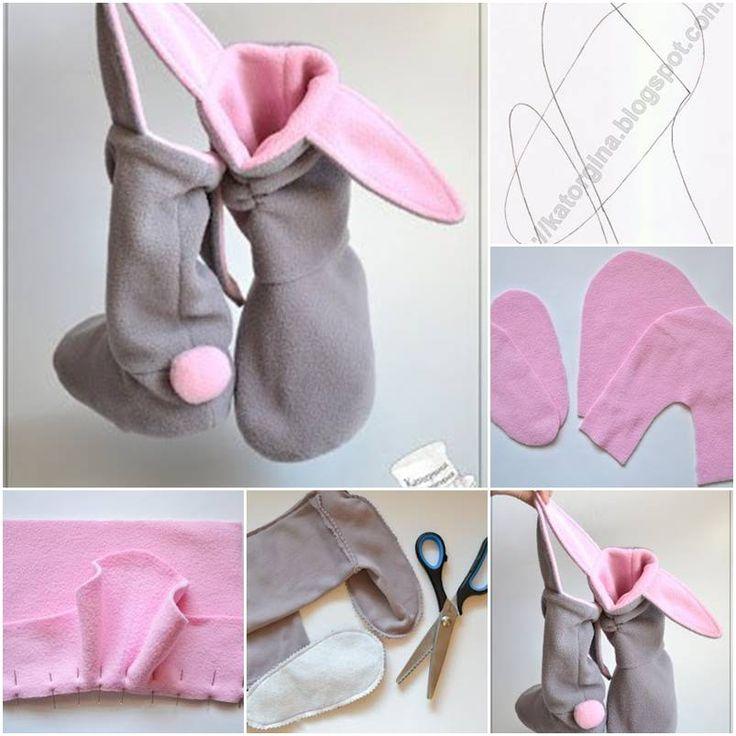 DIY Lovely Bunny Slippers