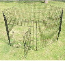 new pawhut 8 panel pet playpen dog cat exercise pen fence portable yard kennel