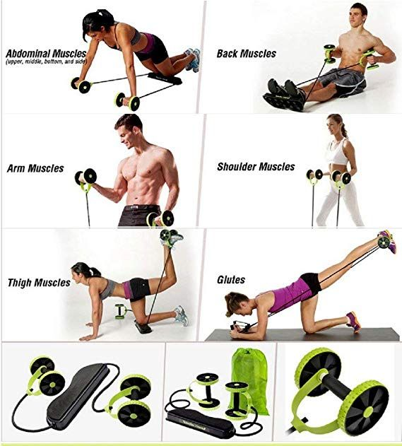 Amazon.com: Sungpunet Men Woman Fitness Abdominal Trainer Revoflex Xtreme ABS  Workout Kit Resistance… | Total body workout, Abdominal exercise equipment, Ab  trainer