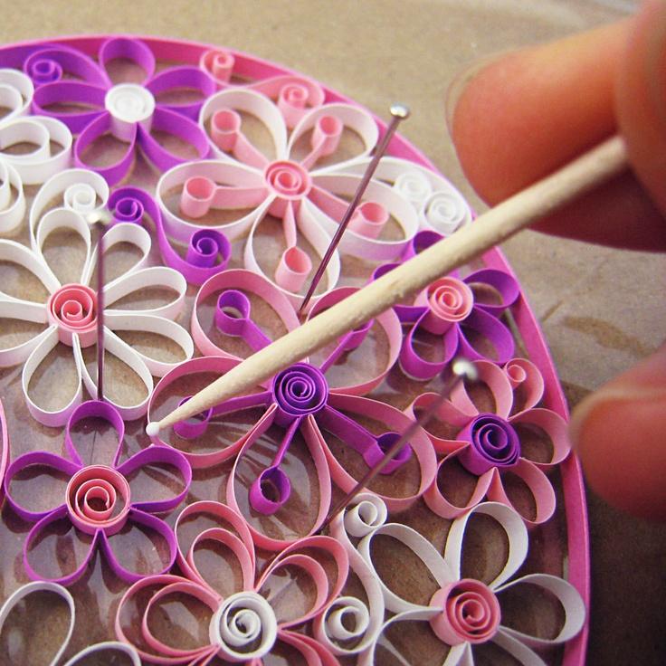 Quilling Flowers - PDF Pattern / Tutorial