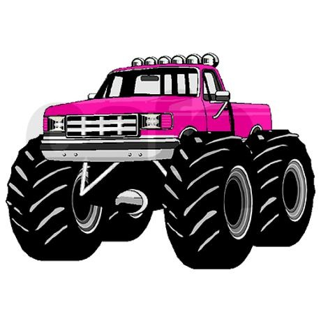 hot pink monster truck country themes pinterest. Black Bedroom Furniture Sets. Home Design Ideas
