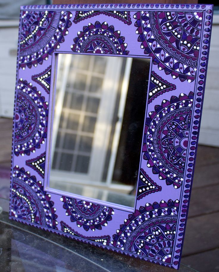 Madhubani Style mirror inspired by Deepti Designs !
