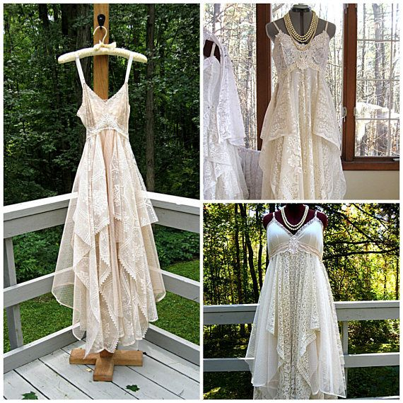 RESERVED FOR TORRIE Empire waist tattered gypsy boho wedding
