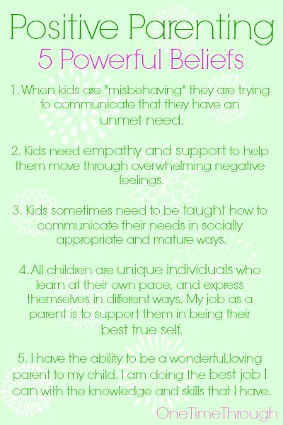 Positive Parenting is sometimes a CHOICE to hold certain BELIEFS about your child and yourself.  Here are 5 of the most POWERFUL ones you can hold onto that will transform your parenting and make life with kids easier and HAPPIER! {One Time Through}