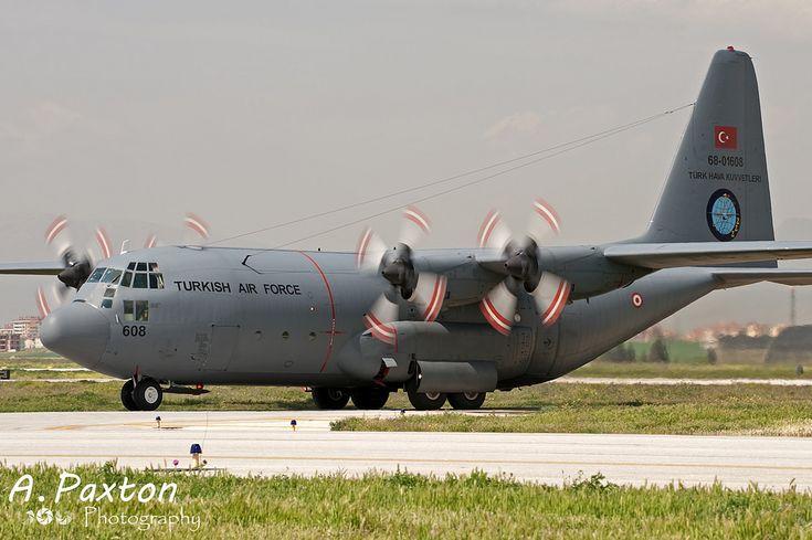 https://flic.kr/p/22CXqna | Turkish Air Force | Lockheed C-130E Hercules | 68-01608 | 222 Filo 'Flame' - Kayseri Erkilet Air Base, Turkey | NTM15 - Konya Air Base, Turkey