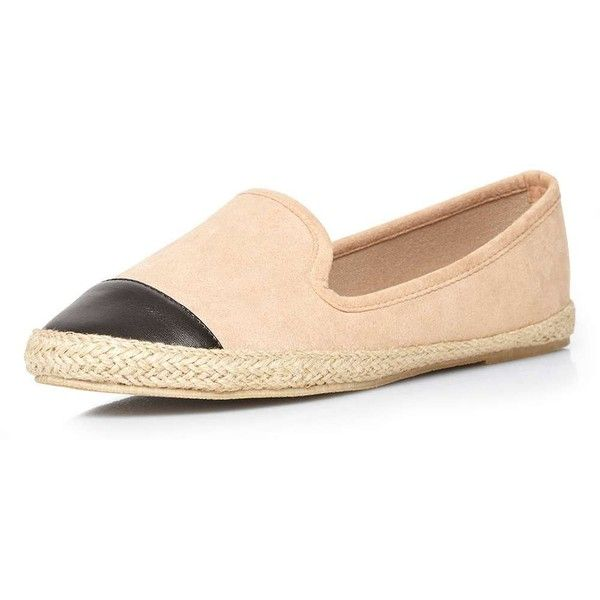 Dorothy Perkins Nude 'Catalina' espadrilles (£17) ❤ liked on Polyvore featuring shoes, sandals, nude, espadrilles shoes, nude footwear, toe cap shoes, nude sandals and dorothy perkins