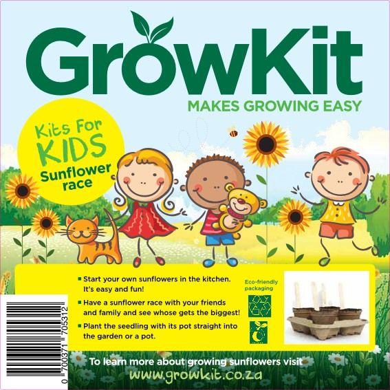 GrowKit Sunflower Race for kids