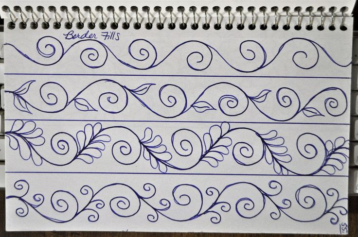 I find doodling a very helpful way to train my brain on how to stitch a pattern. The problem is I don't attend business meetings anymore and I get less doodle time :-)!