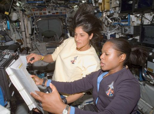 Joan Higginbotham Astronaut | NASA - Joan Higginbotham and Sunita Williams