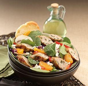 Greek Salad With Al Fresco Spinach & Feta Chicken Sausage   New Main ...