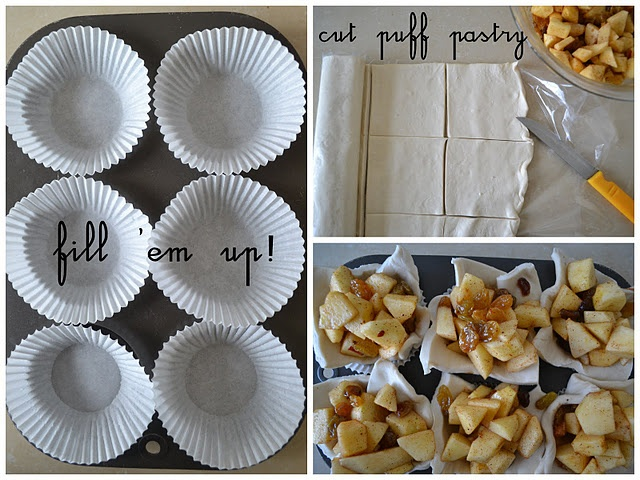 easy recipe for mini apple pies! perfect for fall dessert table!