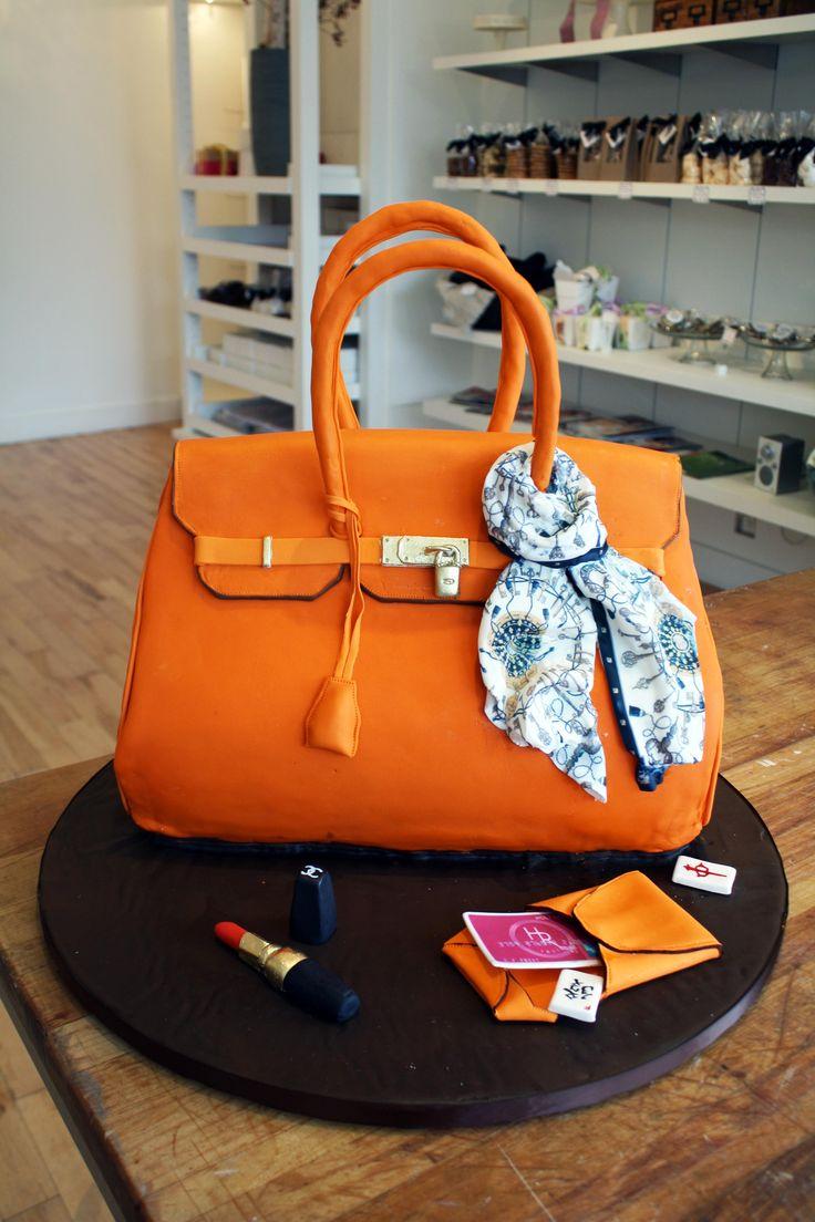 Handbag Design Birthday Cake : 52 best Shopping/Purse Cakes images on Pinterest Purse ...