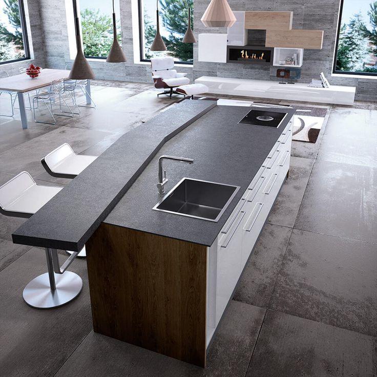 78 best dunkle k chen schick durch schwarz grau images. Black Bedroom Furniture Sets. Home Design Ideas