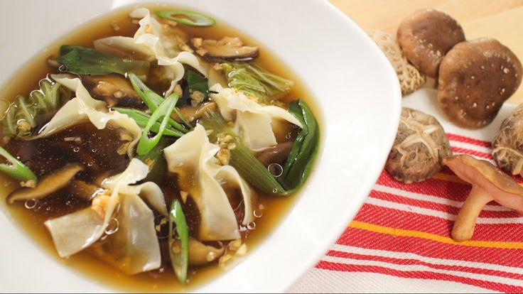 Mushroom Wonton Soup with Campbell's - Hot Thai Kitchen!