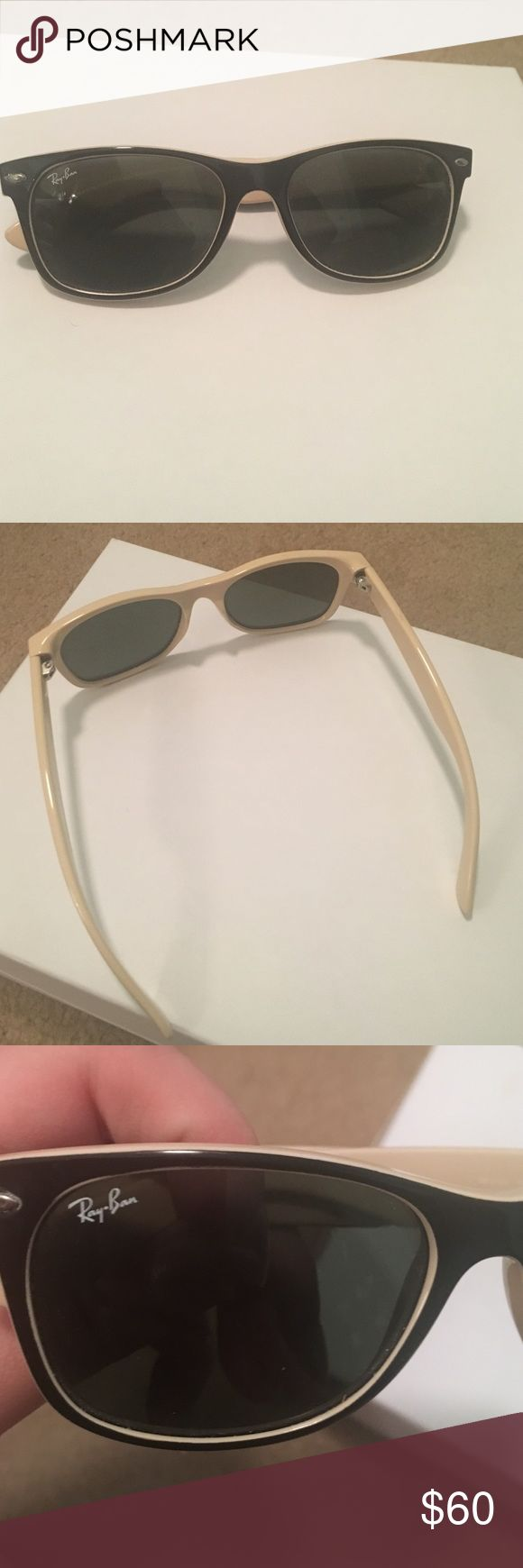Ray ban wayfarers Classic nude and black Ray Ban Wayfarers, no scratches! All offers considered, willing to list/sell on merc or pp Ray-Ban Accessories Sunglasses