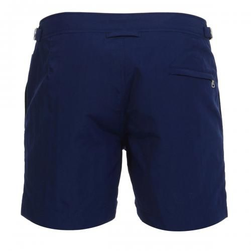 NYLON BOARDSHORTS WITH ADJUSTABLE SIDE TABS Setter nylon Boardshorts with two front pockets and a zippered back pocket, adjustable side tabs with metal buckle, internal mesh, zip and button fly. COMPOSITION: 100% POLYAMIDE. Internal mesh: 100% POLYESTER. Our model wears size 32, he is 189 cm tall and weighs 86 Kg.