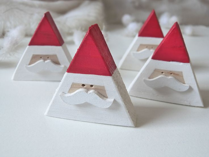 Magnet Père Noël en bois : Accessoires de maison par madame-ki