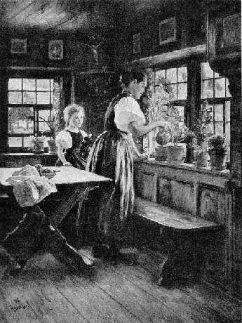 Wilhelm Hasemann: : Im Herrgottswinkel  (1894)