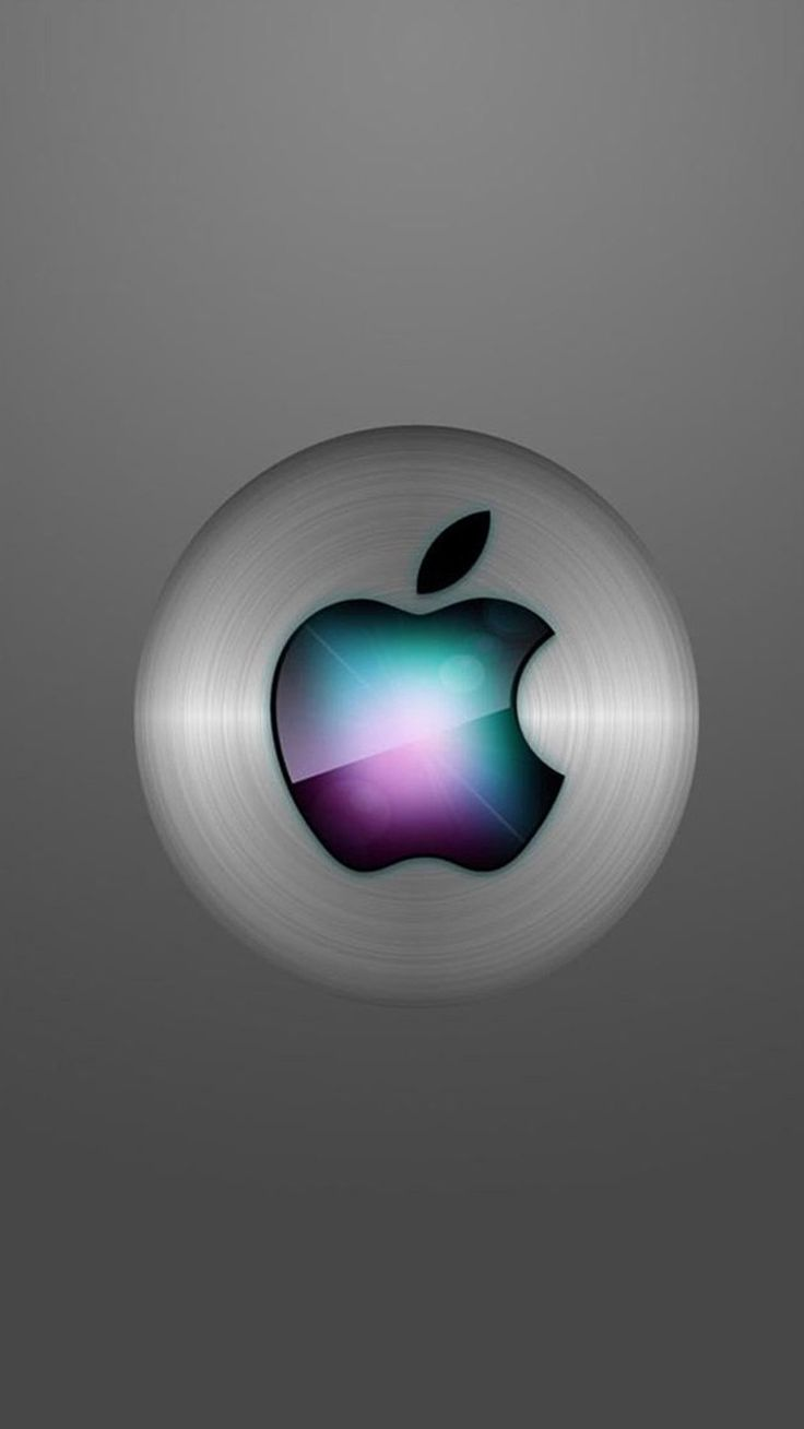 apple iphone logo. apple logo on a silver sphere iphone
