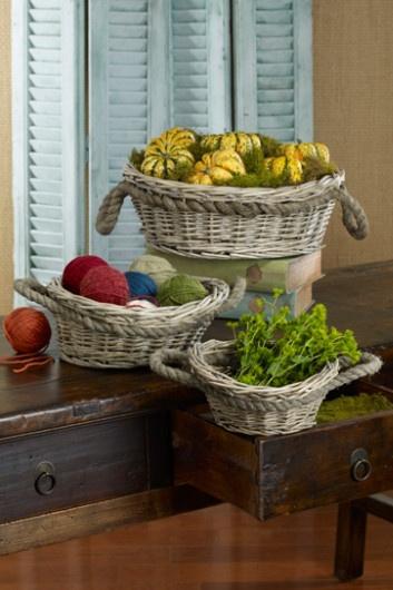 Jute Handle Baskets - Kubu Baskets, Decorative Storage Baskets, Robe Baskets   Soft Surroundings