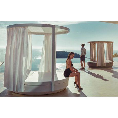 Ramon Esteve // Vela Round Reclinate Daybed + Canopy (Stainless Steel)  sc 1 st  Pinterest & The 25+ best Daybed canopy ideas on Pinterest   Daybed with canopy ...
