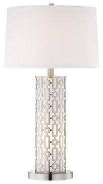 Contemporary Mid-Century Cylinder Night Light Table Lamp - contemporary - table lamps - Lamps Plus