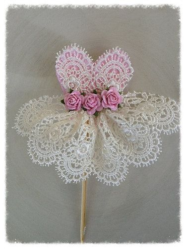 Beautiful Lace Dress Cupcake Topper  for Birthday by JeanKnee, $6.25