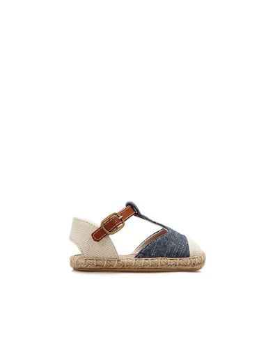 JUTE AND DENIM SANDAL - Shoes - Baby girl (3-36 months) - Kids - ZARA United States