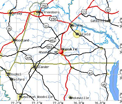Ahoskie NC Map Ahoskie North Carolina Pinterest Nc Map - Ncmap