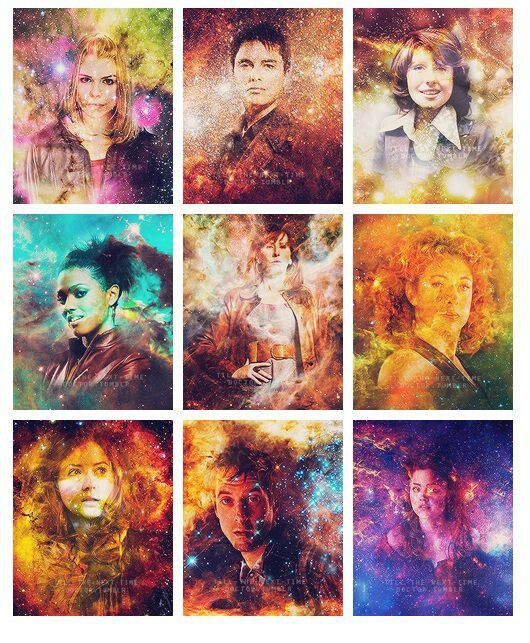 Doctor Who's companions ♡♡ Rose, Jack, Sara Jane, Martha, Donna, River Song, Amy, Rory, and Clara